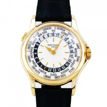 Patek Philippe Red gold Automatic Silver 37mm pre-owned World Time