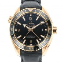 Omega Red gold Automatic Black 43.5mm new Seamaster Planet Ocean