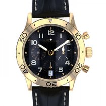 Breguet Yellow gold Automatic Black 39mm pre-owned Type XX - XXI - XXII