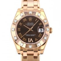 Rolex Red gold Automatic Brown 34mm new Lady-Datejust Pearlmaster