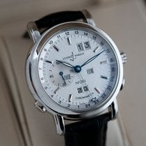 Ulysse Nardin Platinum Automatic Silver 40mm pre-owned GMT +/- Perpetual