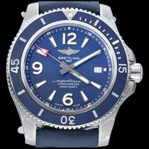 Breitling Superocean 44 Staal 44mm Blauw Arabisch
