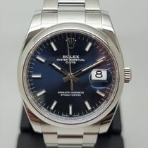 Rolex Oyster Perpetual Date Steel 34mm Blue No numerals