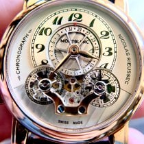 Montblanc Nicolas Rieussec Rose gold 43mm Silver United States of America, Wisconsin, Madison