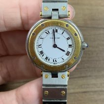 Cartier Santos (submodel) Gold/Steel 27mm White Roman numerals