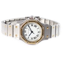 Cartier Santos (submodel) Gold/Steel 25mm White Roman numerals