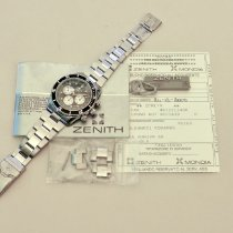 Zenith El Primero Chronograph Stål 40mm Svart Ingen tall