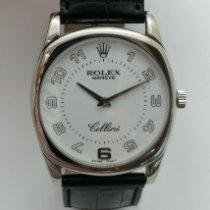 Rolex Cellini Danaos Bjelo zlato 34mm Bjel Arapski brojevi