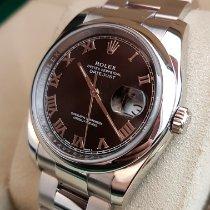 Rolex Datejust Otel 36mm Negru Roman