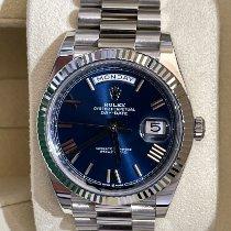 Rolex Day-Date 40 White gold 40mm Blue Roman numerals