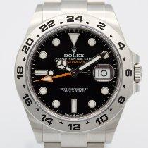 Rolex Explorer II Stål 42mm Svart Ingen tall