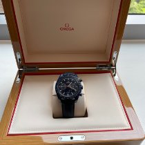 Omega Speedmaster Professional Moonwatch Moonphase pre-owned 44.25mm Blue Moon phase Chronograph Leather