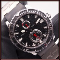 Ulysse Nardin Maxi Marine Diver Сталь 42.7mm Черный Без цифр