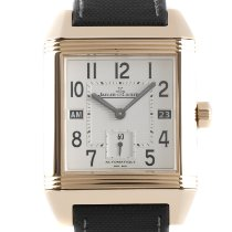 Jaeger-LeCoultre Reverso Squadra Hometime Red gold 41mm Silver