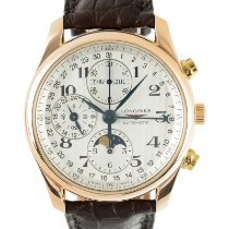 Longines Red gold Automatic Silver 40mm pre-owned Master Collection