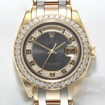 Rolex Gold/Steel 39mm Grey Arabic numerals