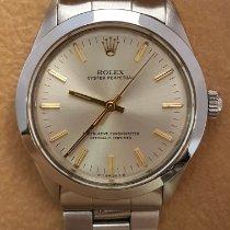 Rolex Oyster Perpetual 34 Stahl 34mm Silber Keine Ziffern