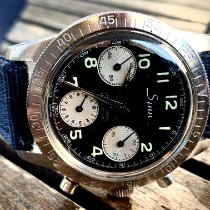 Sinn UX pre-owned 36mm Black Chronograph Month Leather