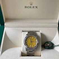 Rolex Oyster Perpetual 36 Stahl 36mm Gelb Schweiz, SCHLIEREN