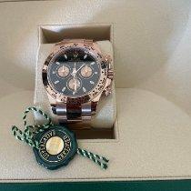 Rolex Daytona Ouro rosa 40mm Preto Sem números Portugal, alges