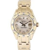 Rolex Lady-Datejust Pearlmaster Yellow gold 29mm White No numerals UAE, Dubai