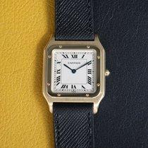 Cartier Santos Dumont Желтое золото 27mm Белый Римские