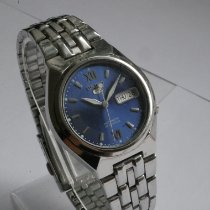 Seiko 5 Sports Steel 36mm Blue No numerals