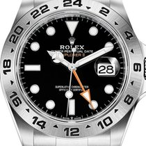 Rolex Explorer II Steel 42mm Black No numerals Australia