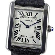 Cartier Tank Solo Steel 27mm Silver Roman numerals