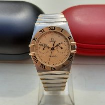 Omega Constellation Day-Date pre-owned Gold Date Gold/Steel
