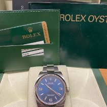 Rolex Oyster Perpetual 36 usados 36mm Azul Acero