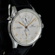 IWC Portuguese Chronograph Acciaio 41mm Argento Arabi Italia, Milano