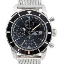 Breitling Superocean Heritage Chronograph подержанные 46mm Черный Хронограф Дата Сталь
