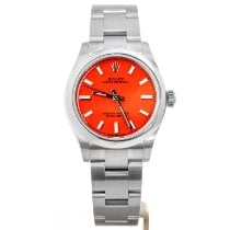 Rolex Oyster Perpetual 31 Steel 31mm Red No numerals United Kingdom, Leeds