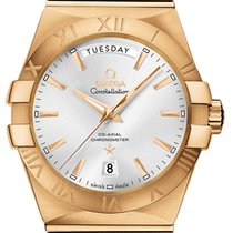 Omega Constellation Day-Date Yellow gold 38mm Silver Roman numerals United States of America, California, Moorpark
