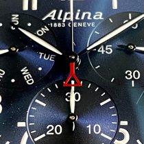Alpina Startimer Pilot Acero 42mm Azul Arábigos