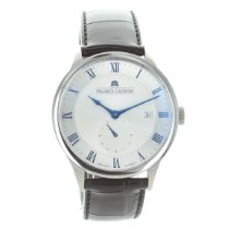 Maurice Lacroix Masterpiece Small Seconde Steel 40mm Silver Roman numerals