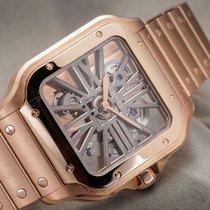 Cartier Santos (submodel) Aur roz 39.8mm Transparent Roman