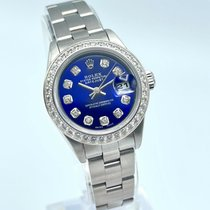 Rolex Oyster Perpetual Lady Date Steel 26mm Blue No numerals