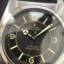 Rolex Bubble Back Stahl 32mm Schwarz Arabisch Schweiz, Feldmeilen