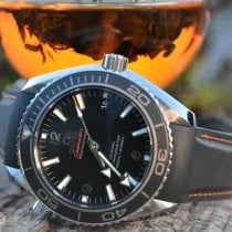 Omega Seamaster Planet Ocean pre-owned 42mm Black Date Leather