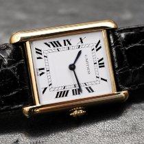 Cartier Tank Louis Cartier Желтое золото Белый