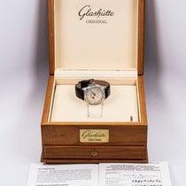 Glashütte Original Senator pre-owned 37mm Silver Moon phase Panorama date Leather