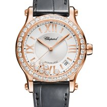 Chopard Happy Sport Rose gold 36mm Silver United States of America, Florida, Sunny Isles Beach