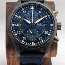 IWC Pilot pre-owned 44.5mm Blue Chronograph Date Calf skin
