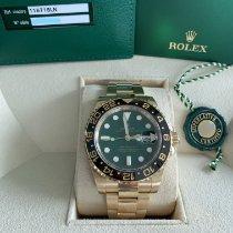 Rolex (ロレックス) イエローゴールド 自動巻き グリーン 文字盤無し 40mm 中古 GMT マスター II