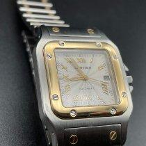 Cartier Santos Galbée Золото/Cталь 40mm Cеребро Римские