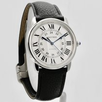 Cartier Ronde Croisière de Cartier Stahl 36mm Silber Römisch