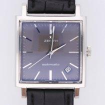 Zenith New Vintage 1965 Acier 34mm Gris Sans chiffres