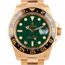 Rolex (ロレックス) GMT マスター II イエローゴールド 40mm グリーン 文字盤無し